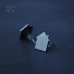 INOX обеци Къщички 28