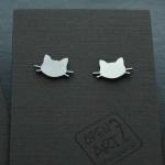 INOX обеци Котки с винт 39