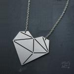 Колие Геометрично сърце 62