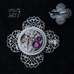Steampunk брошка с кристали Swarovski 267
