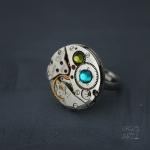 Steampunk пръстен с кристали Swarovski 313