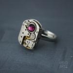 Steampunk пръстен с кристал Swarovski 316