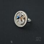 Steampunk пръстен с кристал Swarovski 319