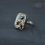 Steampunk пръстен с кристал Swarovski 322