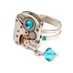 Steampunk пръстен  с кристали Swarovski 19